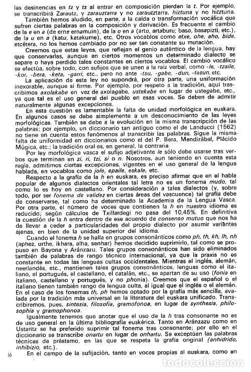 Diccionarios de segunda mano: DICCIONARIO GENERAL Y TECNICO. 1. CASTELLANO - EUSKARA. LUIS Mª MUGICA. PAIS VASCO. - Foto 6 - 154957378