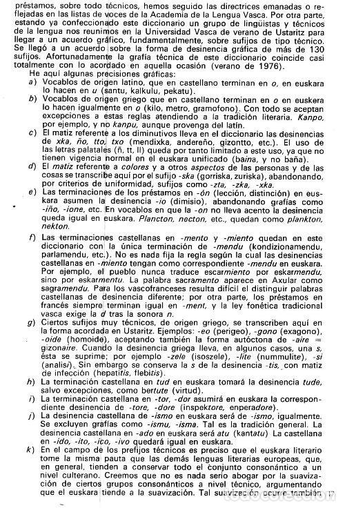 Diccionarios de segunda mano: DICCIONARIO GENERAL Y TECNICO. 1. CASTELLANO - EUSKARA. LUIS Mª MUGICA. PAIS VASCO. - Foto 7 - 154957378