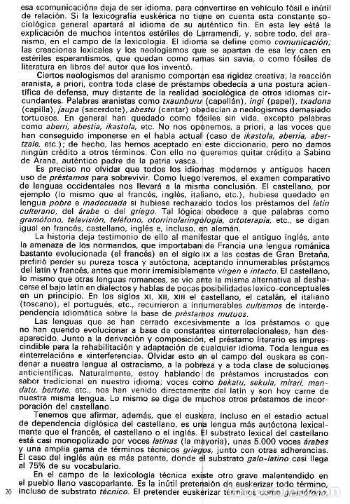 Diccionarios de segunda mano: DICCIONARIO GENERAL Y TECNICO. 1. CASTELLANO - EUSKARA. LUIS Mª MUGICA. PAIS VASCO. - Foto 9 - 154957378