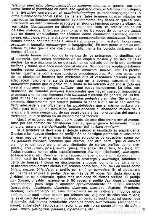 Diccionarios de segunda mano: DICCIONARIO GENERAL Y TECNICO. 1. CASTELLANO - EUSKARA. LUIS Mª MUGICA. PAIS VASCO. - Foto 10 - 154957378