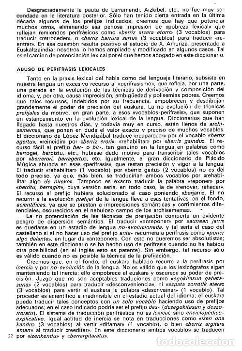 Diccionarios de segunda mano: DICCIONARIO GENERAL Y TECNICO. 1. CASTELLANO - EUSKARA. LUIS Mª MUGICA. PAIS VASCO. - Foto 11 - 154957378