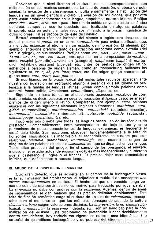 Diccionarios de segunda mano: DICCIONARIO GENERAL Y TECNICO. 1. CASTELLANO - EUSKARA. LUIS Mª MUGICA. PAIS VASCO. - Foto 12 - 154957378