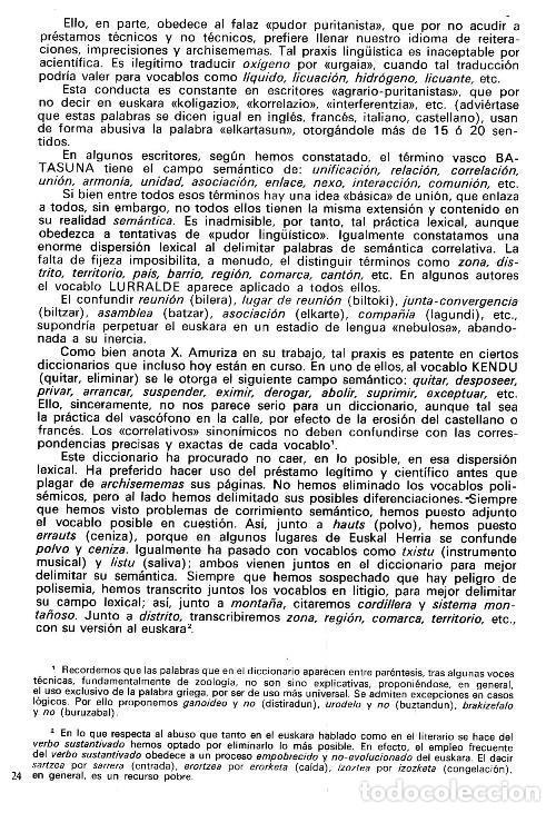 Diccionarios de segunda mano: DICCIONARIO GENERAL Y TECNICO. 1. CASTELLANO - EUSKARA. LUIS Mª MUGICA. PAIS VASCO. - Foto 13 - 154957378