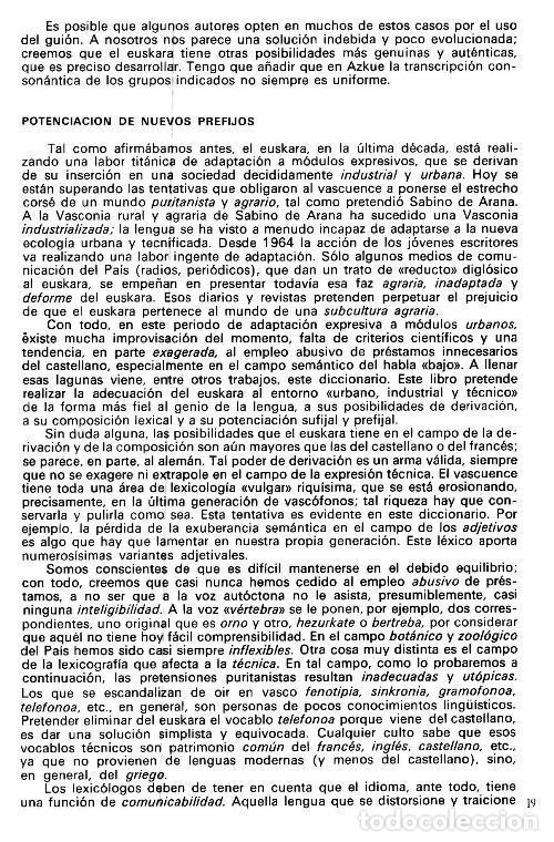 Diccionarios de segunda mano: DICCIONARIO GENERAL Y TECNICO. 1. CASTELLANO - EUSKARA. LUIS Mª MUGICA. PAIS VASCO. - Foto 21 - 154957378