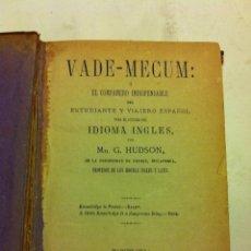 Diccionarios de segunda mano: VADEMECUM - IDIOMA INGLÉS - AÑO 1875. Lote 155267690
