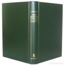 Diccionarios de segunda mano: 1990 - ETIMOLOGÍA - BREVE DICCIONARIO ETIMOLÓGICO DE LA LENGUA CASTELLANA - JOAN COROMINAS - GREDOS. Lote 155698978