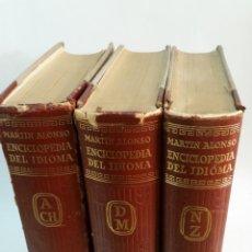 Diccionarios de segunda mano: 1958 - MARTÍN ALONSO - ENCICLOPEDIA DEL IDIOMA. 3 TOMOS (OBRA COMPLETA). Lote 155791510