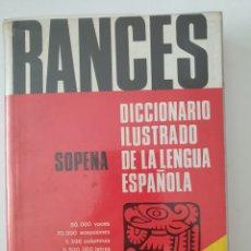 Diccionarios de segunda mano: DICCIONARIO ILUSTRADO RANCES. Lote 156695026