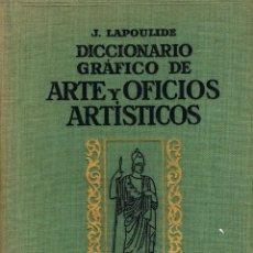 Diccionarios de segunda mano: DICCIONARIO GRÁFICO DE ARTE Y OFICIOS ARTISTICOS, EDICIÓN DE 1945, TOMO I. Lote 156721962