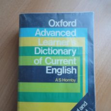 Diccionarios de segunda mano: OXFORD ADVANCED LEARNER'S DICTIONARY OF CURRENT ENGLISH. A S HORNBY (OUP, 1982). Lote 156892446