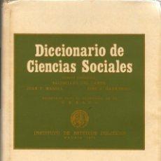 Diccionarios de segunda mano: DICCIONARIO DE CIENCIAS SOCIALES 2 VOL. (UNESCO). Lote 158520046