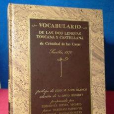 Diccionarios de segunda mano: VOCABULARIO DE LAS 2 LENGUAS TOSCANA Y CASTELLANA-CRISTÓBAL DE LAS CASAS (1570)-FACSIMIL-ISTMO, 1988. Lote 158893741