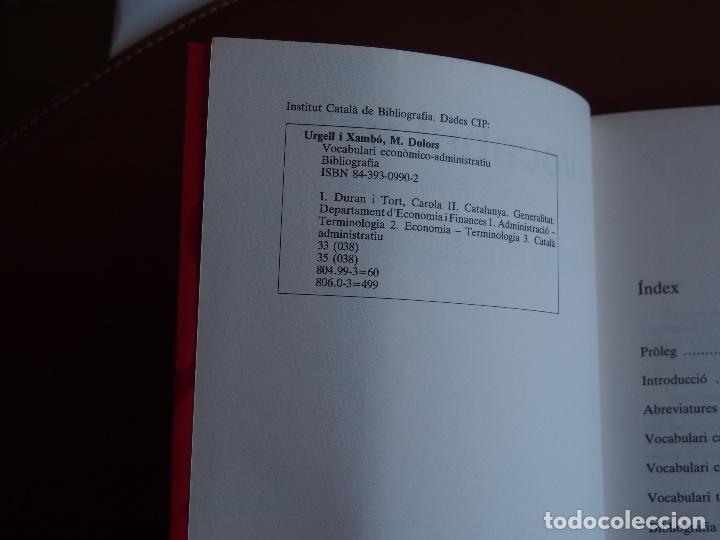 Diccionarios de segunda mano: Vocabulari económico-administratiu M. Dolors Urgell i Xambó - Carola Duran i Tort - Foto 2 - 158900906