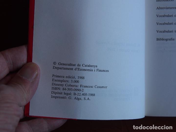 Diccionarios de segunda mano: Vocabulari económico-administratiu M. Dolors Urgell i Xambó - Carola Duran i Tort - Foto 3 - 158900906