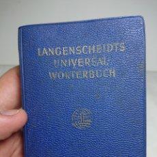 Diccionarios de segunda mano: MINIDICCIONARIO WORTERBUCH ITALIANO-ALEMÁN, 1959. Lote 159805332