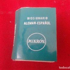 Diccionarios de segunda mano: MINI DICCIONARIO MIKRON ALEMÁN-ESPAÑOL ; EDITORIAL MAYFE 1962. Lote 160231430