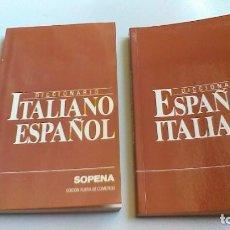 Diccionarios de segunda mano: DICCIONARIO ITALIANO ESPAÑOL SOPENA/ ESPAÑOL ITALIANO/ / / G203. Lote 160434842