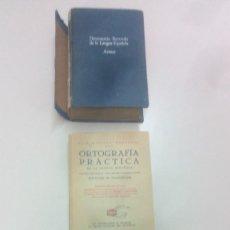 Diccionarios de segunda mano: ORTOGRAFIA PRACTICA AÑO 1956 Y DICCIONARIO ILUSTRADO LENGUA ESPAÑOLA ARISTOS AÑO 1957.. Lote 161686722