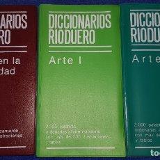 Diccionarios de segunda mano: EL ARTE EN LA ANTIGÜEDAD - ARTE I - ARTE II - DICCIONARIOS RIODUERO. Lote 72423107
