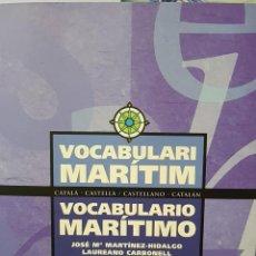 Diccionarios de segunda mano: VOCABULARIO MARÍTIMO. Lote 162740609