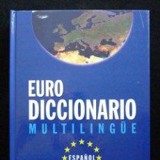 Diccionarios de segunda mano: EURO DICCIONARIO MULTILINGÜE. LAS PROVINCIAS, 1999. Lote 163640734