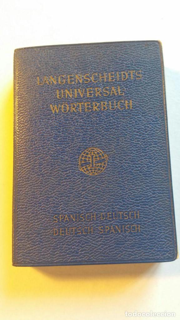 LANGENSCHEIDT'S UNIVERSAL-WORTERBUCH SPANISCH. SPANISCH-DEUTSCH, DEUTSCH-SPANISCH - 1960 (Libros de Segunda Mano - Diccionarios)