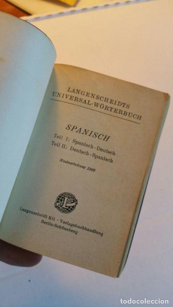 Diccionarios de segunda mano: Langenscheidts Universal-Worterbuch Spanisch. spanisch-deutsch, deutsch-spanisch - 1960 - Foto 4 - 163778038