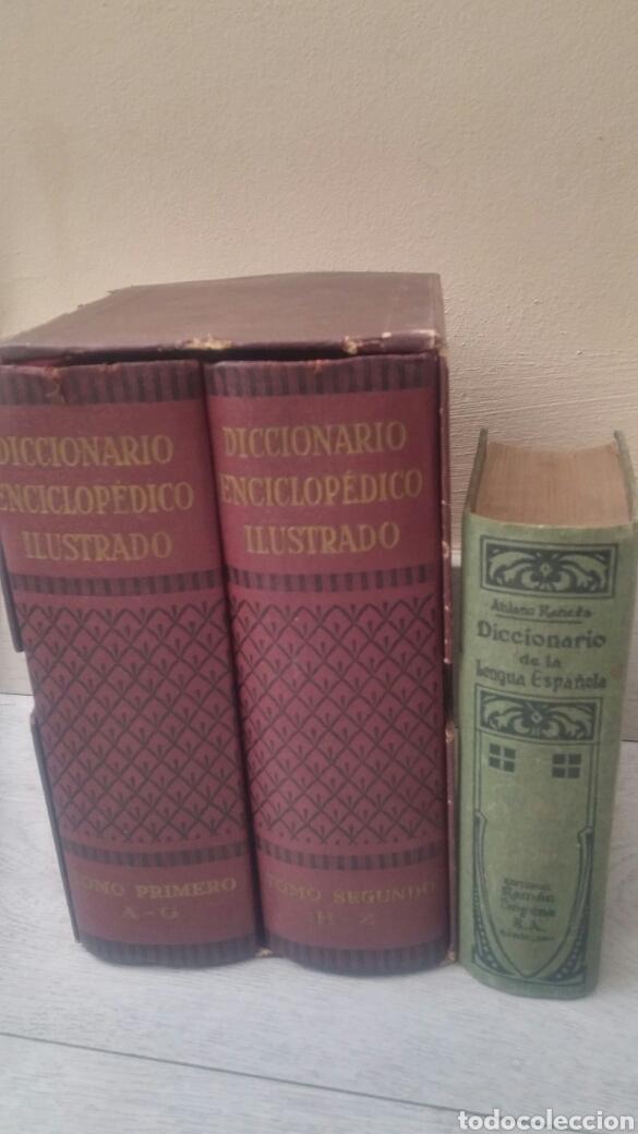 DICCIONARIO ENCICLOPEDICO ILUSTRADO 2 TOMOS + DICCIONARIO ATILANO RANCES LENGUA ESPAÑOLA (Libros de Segunda Mano - Diccionarios)