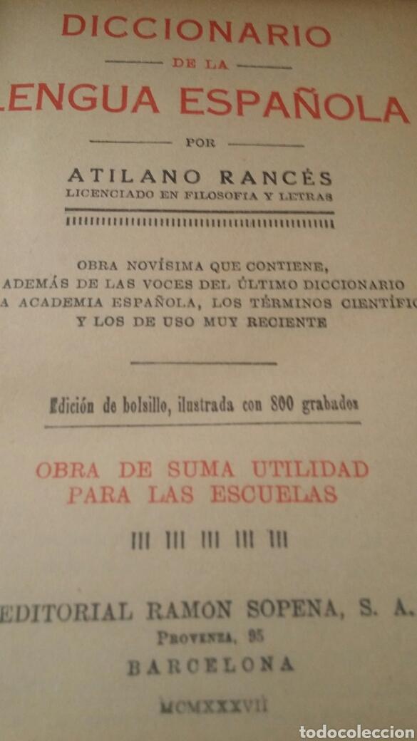 Diccionarios de segunda mano: DICCIONARIO ENCICLOPEDICO ILUSTRADO 2 TOMOS + DICCIONARIO ATILANO RANCES LENGUA ESPAÑOLA - Foto 5 - 165188230