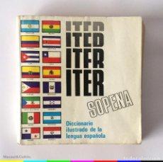 Diccionarios de segunda mano: ITER SOPENA - DICCIONARIO ILUSTRADO DE LA LENGUA ESPAÑOLA - ED. RAMON SOPENA. Lote 167055156