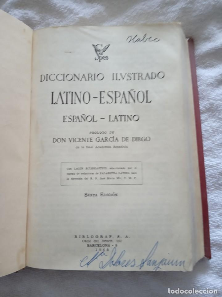 Diccionarios de segunda mano: Diccionario ilustrado latino español spes 1968. - Foto 3 - 167775616