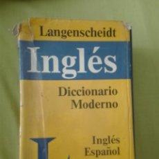 Diccionarios de segunda mano: DICCIONARIO MODERNO LANGENSCHEIDT INGLÉS ESPAÑOL. Lote 168012236