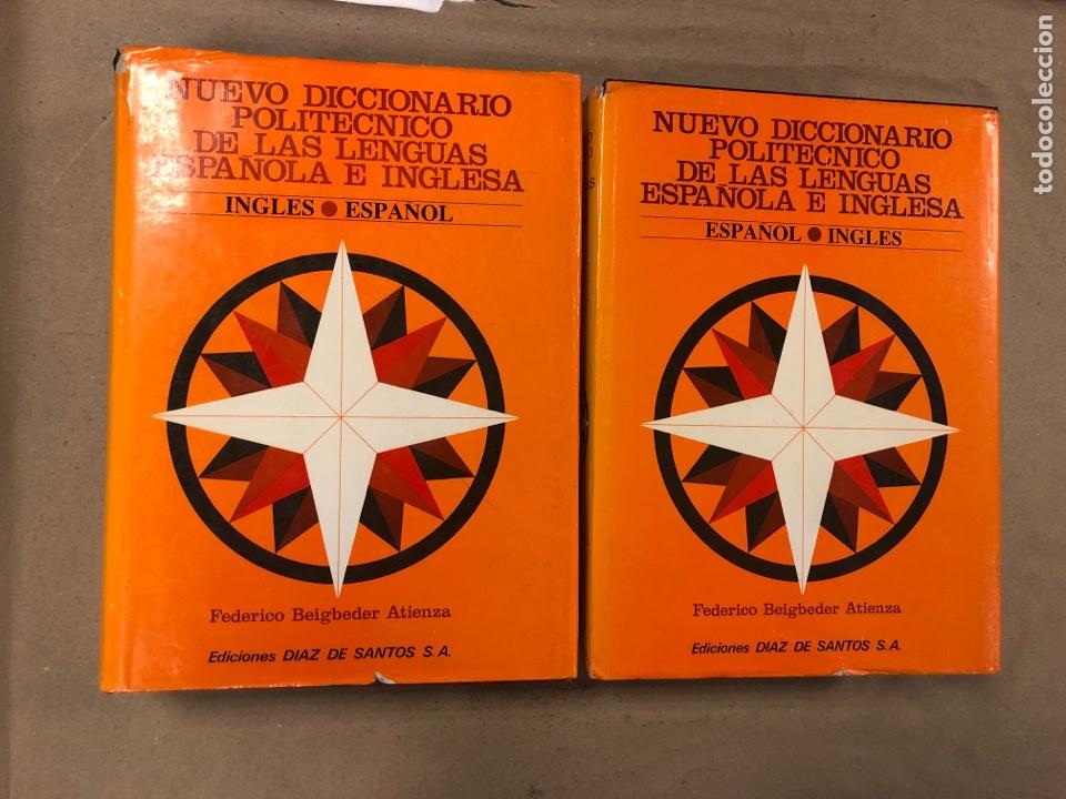 NUEVO DICCIONARIO POLITÉCNICO DE LAS LENGUAS ESPAÑOLA E INGLESA (2 TOMOS). FEDERICO BEIGBEDER ATIENZ (Libros de Segunda Mano - Diccionarios)