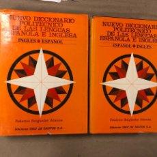 Diccionarios de segunda mano: NUEVO DICCIONARIO POLITÉCNICO DE LAS LENGUAS ESPAÑOLA E INGLESA (2 TOMOS). FEDERICO BEIGBEDER ATIENZ. Lote 168034270