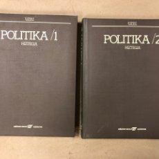 Diccionarios de segunda mano: POLITIKA HIZTEGIA 1/2 (2 TOMOS). EDICIONES VASCAS ARGITALETXEA 1980.. Lote 182477366