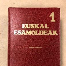 Diccionarios de segunda mano: EUSKAL ESAMOLDEAK 1. EUSKAL LOKUZIOAK. KOLDO IZAGIRRE. HORDAGO (1981). TAPA DURA. 718 PÁGINAS. Lote 168087692