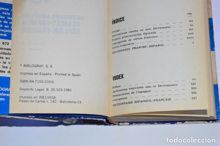 Diccionarios de segunda mano: LIBRO DICCIONARIO ABREVIADO FRANCÉS-ESPAÑOL ESPAÑOL-FRANCÉS VOX BIBLOGRAF 1981 PEQUEÑO DE BOLSILLO - Foto 3 - 168544100