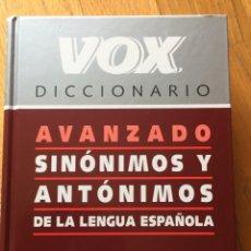 Diccionarios de segunda mano: DICCIONARIO VOX, AVANZADO SINONIMOS Y ANTONIMOS. Lote 168580748