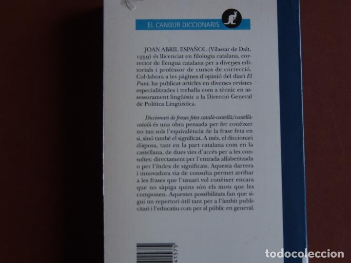 Diccionarios de segunda mano: Diccionari de Frases fetes Català-Castellà Castellà-Català Joan Abril Español - Foto 4 - 168592872