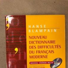 Diccionarios de segunda mano: NOUVEAU DICTIONNAIRE DES DIFFICULTÉS DU FRANÇAIS MODERNE. HANSE BLAMPAIN. INCLUYE CD. Lote 168858933