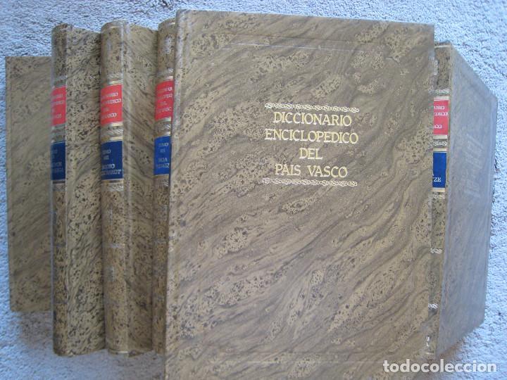 Diccionarios de segunda mano: DICCIONARIO ENCICLOPEDICO DEL PAIS VASCO-10 Tomos - Foto 2 - 168952588