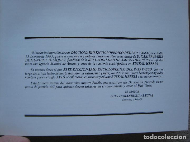 Diccionarios de segunda mano: DICCIONARIO ENCICLOPEDICO DEL PAIS VASCO-10 Tomos - Foto 6 - 168952588
