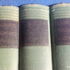 Diccionarios de segunda mano: AÑOS 50, DICCIONARIO ENCICLOPEDICO ILUSTRADO, EDITORIAL RAMON SOPENA - 3 TOMOS (COMPLETO). Lote 169215084