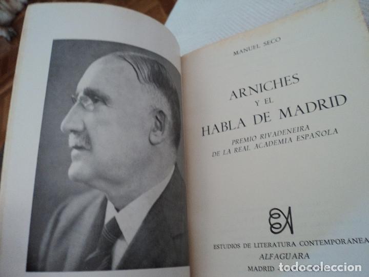 Diccionarios de segunda mano: Arniches y el Habla de Madrid. - SECO, Manuel. - Foto 2 - 169871544