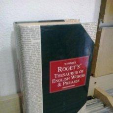 Livros em segunda mão: LMV - ROGET'S, THESAURUS OF ENGLISH WORDS & PHRASES. TEXTO EN INGLES. Lote 170907090
