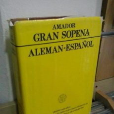 Diccionarios de segunda mano: LMV - DICCIONARIO ALEMÁN - ESPAÑOL, GRAN SOPENA. EMILIO M. MARTÍNEZ AMADOR. Lote 170909285