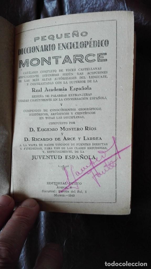 Diccionarios de segunda mano: Diccionario Montarcep editorial Pueyo 1940 - Foto 3 - 172231167