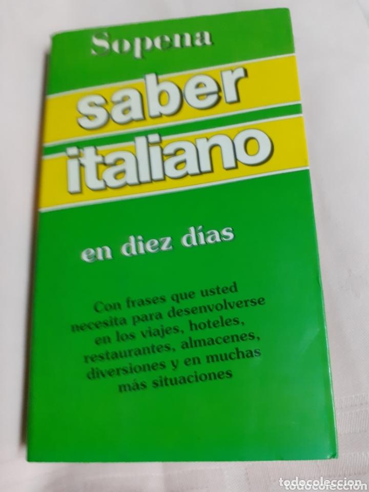 Libro Diccionarioguiasaber Italiano En Diez Dias Con Frases Que Necesita Para Desenvolverse