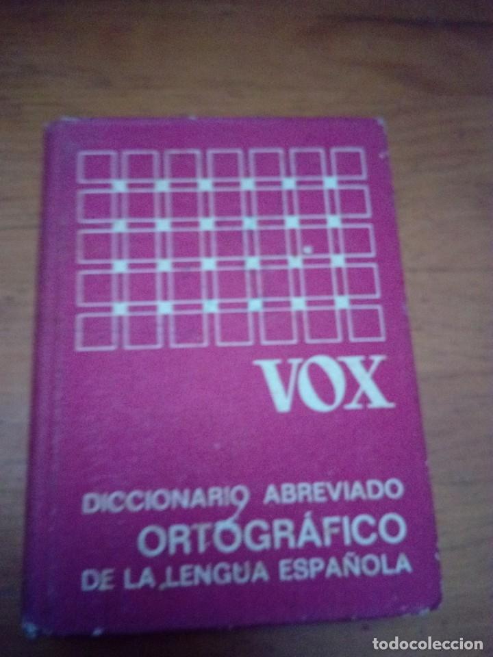 DICCIONARIO ABREVIADO ORTOGRÁFICO DE LA LENGUA ESPAÑOLA VOX. EST4B4 (Libros de Segunda Mano - Diccionarios)