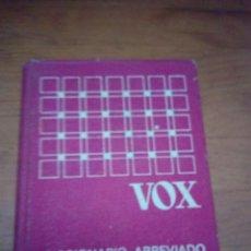Diccionarios de segunda mano: DICCIONARIO ABREVIADO ORTOGRÁFICO DE LA LENGUA ESPAÑOLA VOX. EST4B4. Lote 172565542